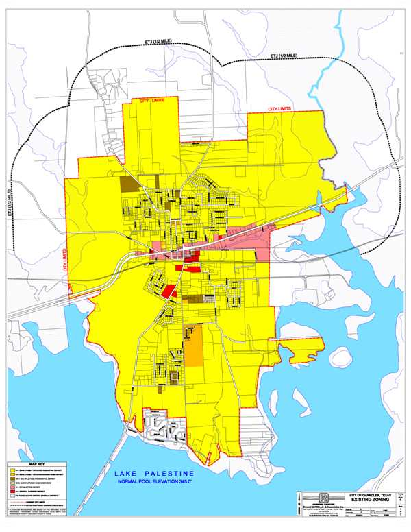 Chandler Texas Map Zoning Map | Chandler, TX   Official Website